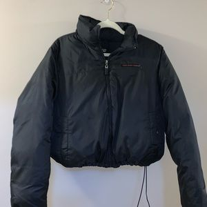 Ralph Lauren Polo cropped black puffer jacket